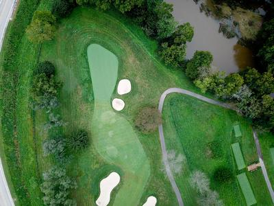 Overhead view of Green and Approach