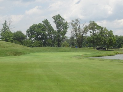 View of the Green from the approach